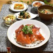 【レシピ】韓国風まぐろとサーモンの漬け丼✳︎簡単✳︎時短