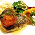 釣魚料理  スズキの香草焼と野菜のグリル