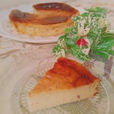 ☆ 超簡単 焼くまで3分ヨーグルトでベークドチーズケーキ風♪。
