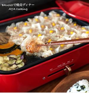 ホットプレートで焼売ディナーと桜島落ち着けーーー!