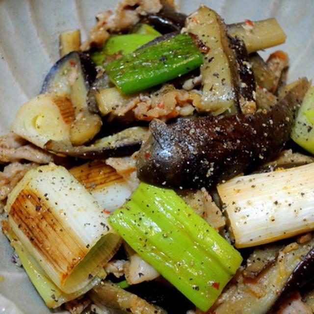 七草粥食べましたか?簡単一品は、ナスと長ネギと豚肉の味噌炒め☆