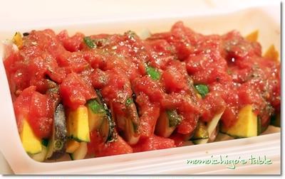 野菜のミルフィーユでラタトゥイユ*スパイスレシピ♪