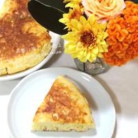 ■花と料理でハロウィンを楽しもう♡しらすとコーンとチーズのホットケーキ