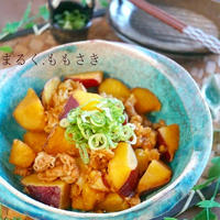 さつま芋と豚バラの煮物