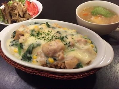 【昨日の晩ごはん☆炊飯器 de チキンドリア♪】