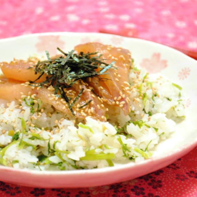 せり寿司で ブリの漬け丼 ☆
