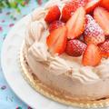 米粉ジェノワーズでチョコレートデコレーションケーキ