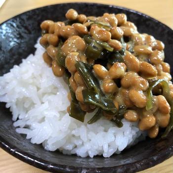 めっちゃ合う✨梅昆布納豆ご飯