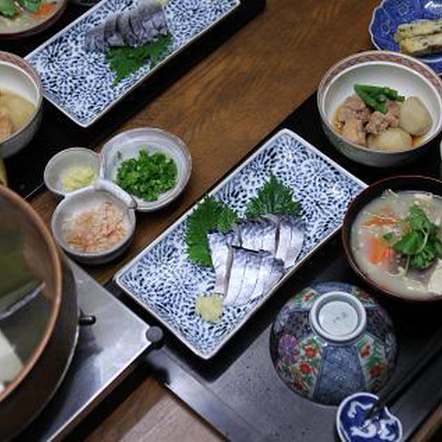 レシピ付き献立 しめ鯖・鶏と里芋の含め煮・もずくの酢の物・卵焼き・けんちん汁