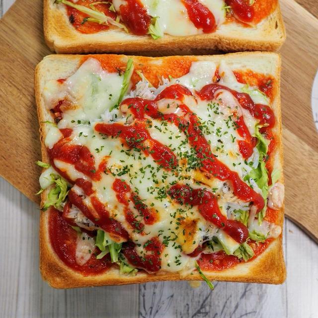 【キャベツしらすピザトースト】何度も食べたくなるフツーの母の味♪