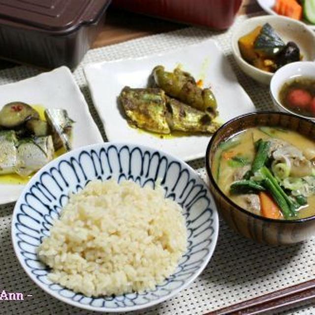 トースターパンで秋刀魚づくし☆(アヒージョ・サブジ風・つみれ汁)