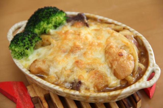 焼きチーズカレーうどんグラタン
