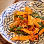 鶏肉とインゲンの炒め物 花椒風味
