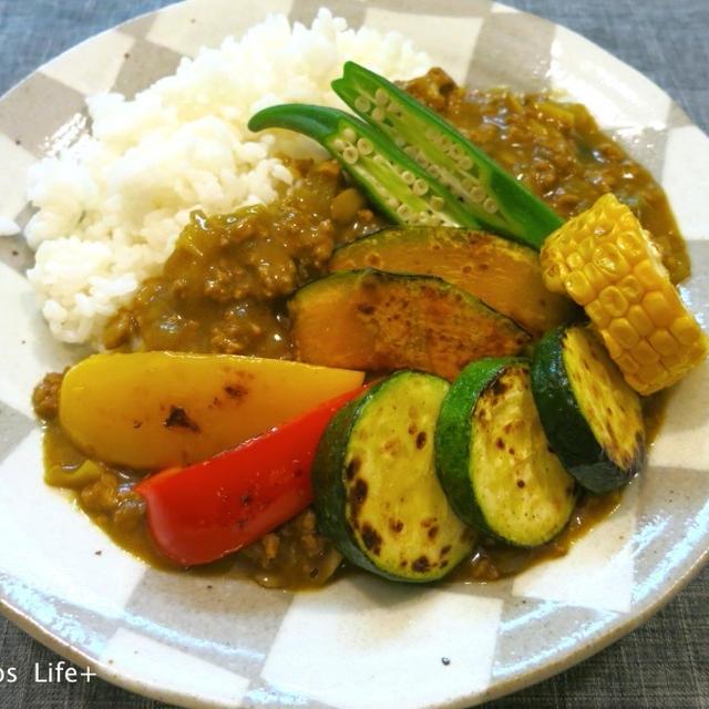 夏野菜たっぷりひき肉のカレー