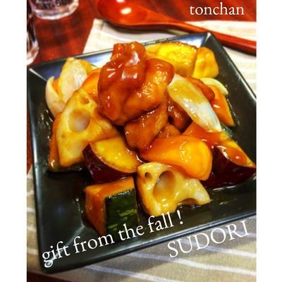 簡単✳︎時短✳︎失敗なし✳︎秋野菜たっぷり酢鶏