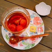 いちごのホットティーとレンジで簡単いちごジャム