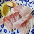 カサゴちゃん!霜降り造りと潮汁!白身魚で、お年寄りには、大好評でした!!!