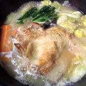 鶏肉のガーリックソテー味噌鍋