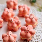 ラブリーピンクのお花マカロンレシピ♪ひな祭りにも