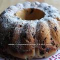 ブラックベリー酵母@ラムフルーツ&チョコ入り ケーキ風ブレッド by hannoahさん