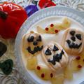 ハロウィンマシュマロ&キャンディー林檎♡カルダモン入りヨーグルト♪ by ハッピーさん