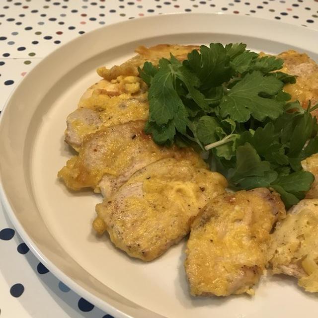 ふわっさくっしっとり簡単イタリアごはん「鶏むね肉のピカタ」。