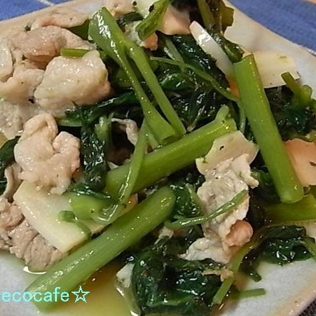 豚肉と空芯菜の炒め物