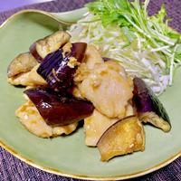 低脂質♪鶏むね肉とナスの生姜ポン酢炒め