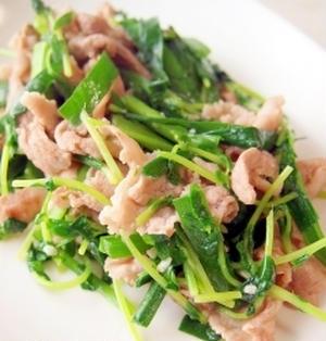 豚バラニラのスタミナ塩麹炒め