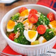 デパ地下デリ風♪『ブロッコリーと卵とツナのごまマヨサラダ』【作り置き*時短*節約】と『今が旬!ブロッコリーレシピ10選』