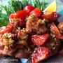 オチた…٩̋(๑˃́ꇴ˂̀๑) オススメおかず!鶏唐揚げのトマト香味ソースがけ