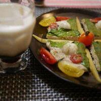 カルーア・ミルク&鶏つくねのトッピング焼き