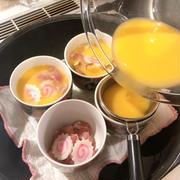 晩御飯は天ぷらと茶碗蒸しです!
