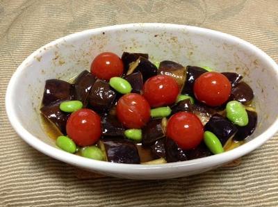 茄子とトマトのエスニックマリネ