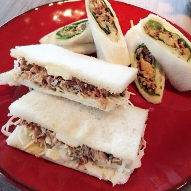 和食好きも喜ぶ♪「鯖の味噌マヨサンドイッチ」レシピ