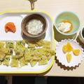 【離乳食完了期】グリーンボールと小松菜の素麺おやき