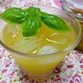 かぼすとバジルのフルブラ♪オレンジジュース割り☆
