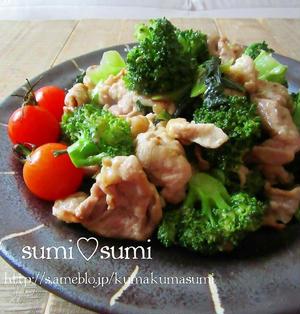 簡単スタミナ飯!豚小間とチンゲン菜の中華炒め