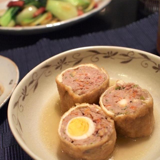 豚肉とうずら卵の信田巻き&長芋と桜えびのおやき