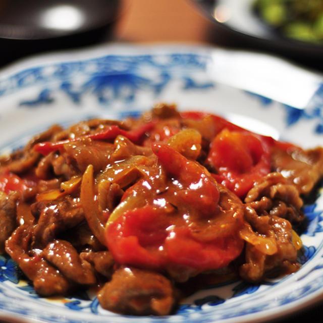 【授かるベーシックレシピ】トマトと牛肉のカレー炒め
