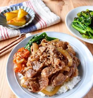 【牛肉と玉ねぎのスタミナ炒め】15分/冷蔵5日/フライパン