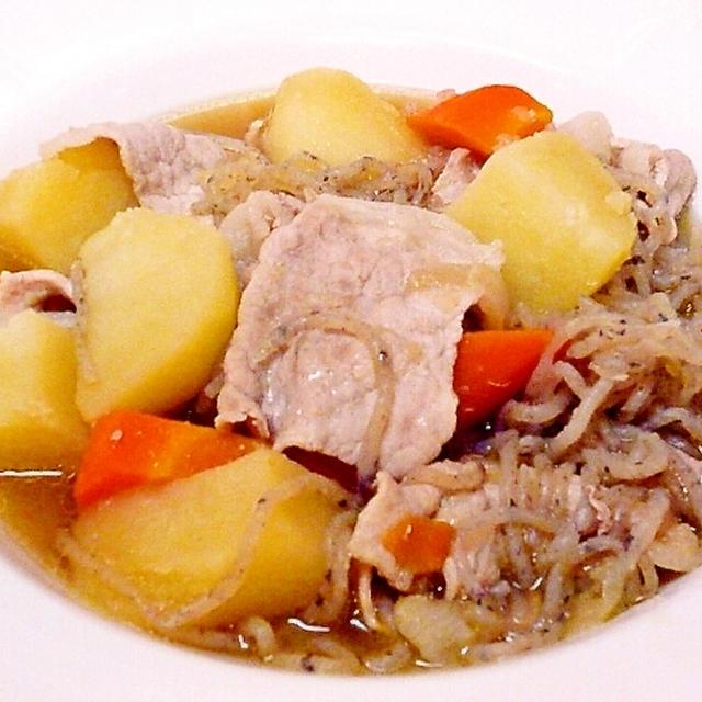 「マルコメ鶏がら塩糀スープの素」で肉じゃがを作りました♪