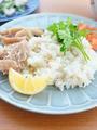 海南鶏飯(シンガポールチキンライス)風