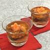 サーモンのもずく酢和え、おろし生姜風味