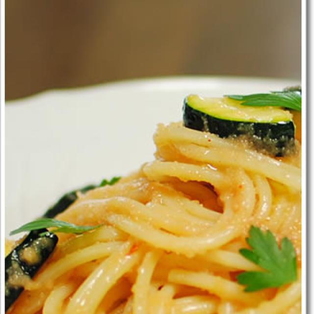 ワイン仕込みの辛子明太子を使ったスパゲッティ