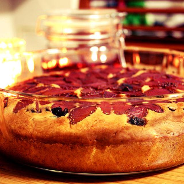 フルブラ苺の簡単ケーキ(バター不使用)
