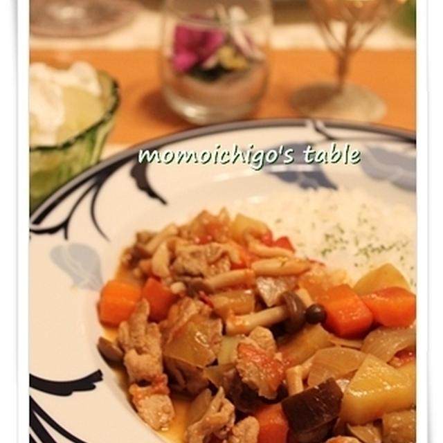 コロコロ野菜のトマトカレー♪