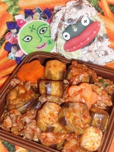 麻婆茄子&もやしのピリ辛ピーナッツサラダ(お家カフェ)