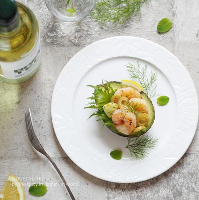 アボカドと海老のレモンサラダ