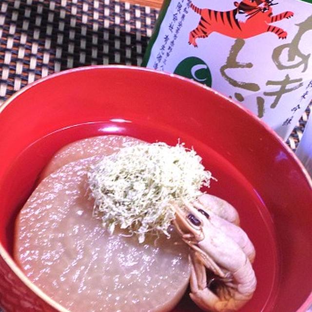 圧力鍋で簡単、大根と干し海老の煮物、菜の花巻き寿司、うるめいわしの手毬寿司
